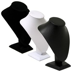 Medium Bust Leatherette/Velvet Display