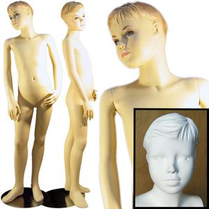 Young Teenage Boy Standing Mannequin 4' 7''