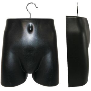 Plastic Male Lower Torso (Hip) Hanging Form with Metal Hook