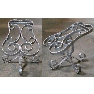 Small Raw Steel Metal Shoe Stand