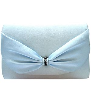 Powder Blue Bow Clutch