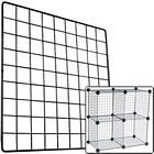 Black Grid Wire Storage Cube Panel