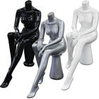 Glossy/Matte Female Seated Headless Mannequin