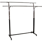 Double Round Tubing Garment Rack