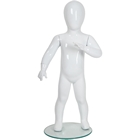 Glossy Abstract Standing Toddler Baby Mannequin 2' 7''