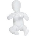 Glossy Abstract Sitting Toddler Baby Mannequin