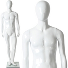 Glossy Male Abstract Egghead Standing Mannequin