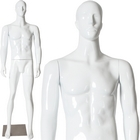 Glossy Male Abstract Face Standing Mannequin
