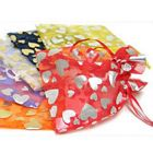 Love Hearts Pattern Satin Mesh Organza Gift Bag 5.9'' x 4.72''