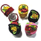 Flower Basket Velvet Ring Box