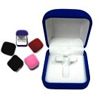 Square Velveteen Box - Stud Earrings and Ring Insert