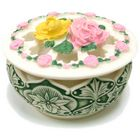 Circle of Roses Polyresin Jewelry Container with Lid