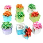 Colorful Molded Plastic Festive Ring Box with Bow Set