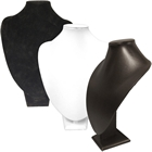 Large Bust Leatherette/Velvet Display