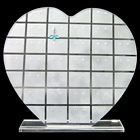 Frosted Clear Heart Earrings Display Stand