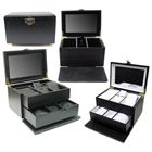 Swing Latch Black Hardwood Jewelry Box