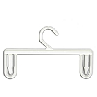 11\'\' White Plastic Skirt & Pants Clothes Hangers - Pack of 250