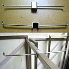 New Chrome Double Sided Rack Hooks for 1'' Tubes, FINAL SALE