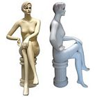 Ladies Full Size Sitting Mannequin with Pedestal