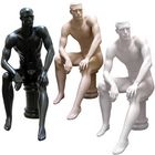Men's Full Size Sitting Masculine Mannequin with Pedestal