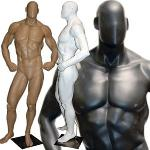 Muscle Builder Mannequin in Tone & Flex Pose - LESS THAN PERFECT