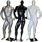 Glossy Muscle Bodybuilder Mannequin in Tone & Flex Pose