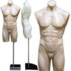 Male Armless Round Body Plastic Torso Dress Form