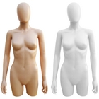 Plastic 3/4 Torso Female Upper Body Torso Form with Removable Head
