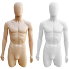 Plastic 3/4 Torso Male Upper Body Torso Form with Removable Head