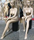 Sitting Female Economy Fleshtone Mannequin, Pedestal Not Included - FINAL SALE