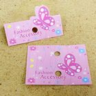 Pink Butterfly Fashion Accessory Jewelry Hanging Tags - Pack of 100