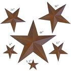 6 Piece Rustic 5 Point Star Wall Decoration Set