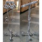 Large Raw Steel Metal Shoe Stand