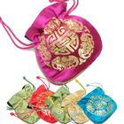 Small \'\'Happy Fortune\'\' Satin Drawstring Pouch