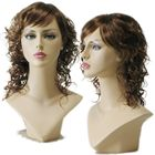 Curly Auburn Brown Wig